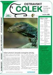 časopis Čolek jaro 2013 ( 1,60 MB ) - Zoo Ostrava