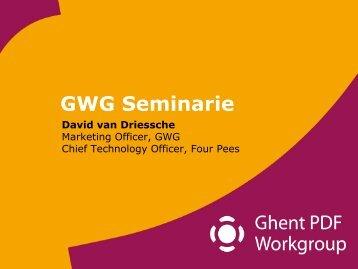Inleiding: de GWG, standaardisatie en meer