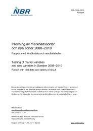 102 2010 Nya sorter 3 år 2008-2010 Final report - NBR Nordic Beet ...