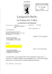 Urteil des Landgerichts Berlin vom 06.09.2007, Az. 23 S 3/07