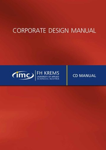 Corporate design Manual - IMC Fachhochschule Krems GmbH