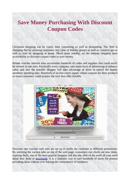 Save Money Purchasing With Discount Coupon Codes