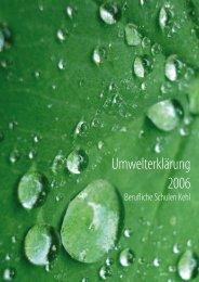 Umwelterklärung 2006 - Schuleaufumweltkurs.de