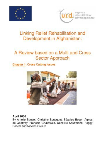Chapter 1: Cross Cutting Issues April 2006 - Groupe URD
