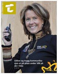Sikker og trygg kommunika- sjon er på plass under VM ... - TC Connect