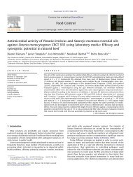 Antimicrobial activity of Pistacia lentiscus and Satureja montana ...