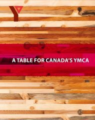 A TAble for CAnAdA's YMCA - YMCA Canada
