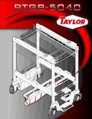 information about Taylor's New RTGB-5040 - Taylor Machine Works