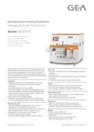 GEA Niro Soavi Ariete NS3055 Tech Sheets ENG Rev05 2012 Flash ...