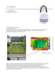 Streifenbildung über Verwerfung - Dr. med. dent. Wolfgang Burk ...
