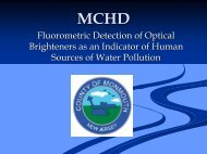 Fluorometric Detection of Optical Brighteners as an Indicator of ...