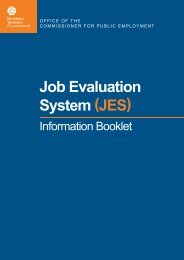 Job Evaluation System (JES) - Office of the Commissioner for Public ...