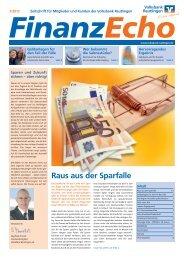 Finanz-Echo 1-12_v8.indd - Volksbank Reutlingen eG