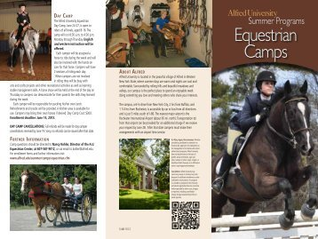 Equestrian Camps - Alfred University