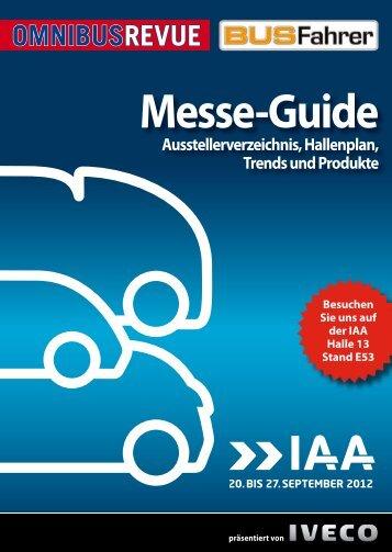 Messe-Guide IAA 2012 - BUSFAHRER