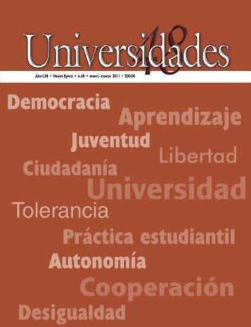 Revista Universidades Número 48, Enero-Marzo de 2011 - udual