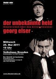 Flyer zum Theaterstück - Netzwerk für Demokratie und Courage