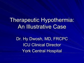 Therapeutic Hypothermia: An Illustrative Case - Emergency Medicine