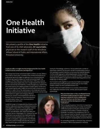 OneHealth-article-June-2010