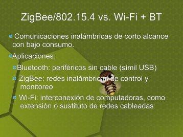 Comunicación de aplicaciones mediante ZigBee