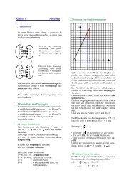Formelsammlung Algebra 8 - Evangelisches Gymnasium ...