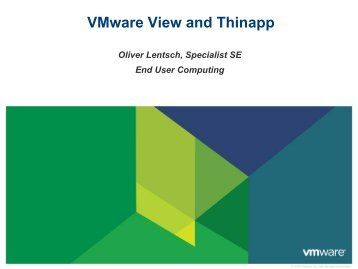 VMware View und VMware Thinapp - Magirus