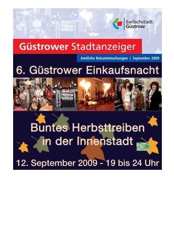 Tag des offenen Denkmales 13. September 2009 - Barlachstadt ...