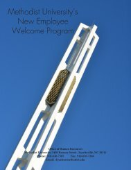 New Employee Welcome Program Guide - Methodist University