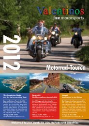 Valentinos Katalog 2012 - Motorrad-Touren