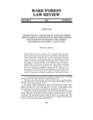 WAKE FOREST LAW REVIEW - College of Law
