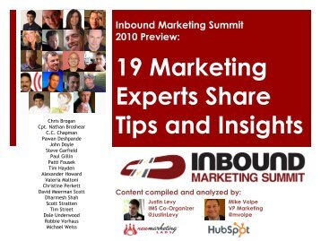 19 Marketing Experts Share Tips and Insights