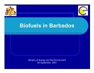 Biofuels in Barbados