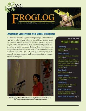 download the FrogLog 88 - Amphibian Specialist Group