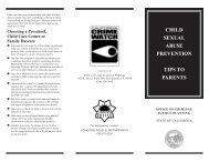 child sexual abuse prevention tips to parents - City of Concord