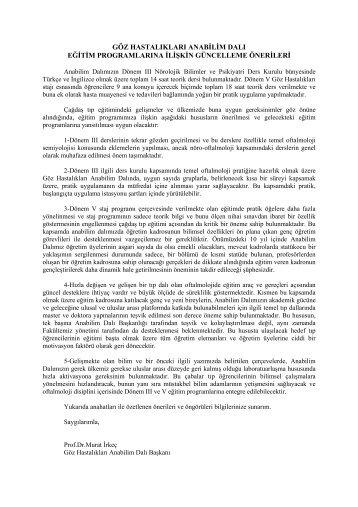 Göz Hastalıkları Ana Bilim Dalı - Hacettepe Üniversitesi Tıp Fakültesi