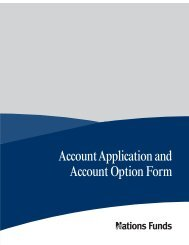 Account Application and Account Option Form