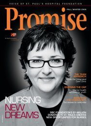 NURSING NEW DREAMS - St. Paul's Hospital Foundation