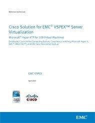 Cisco Solution for EMC® VSPEX™ Server Virtualization - Magirus