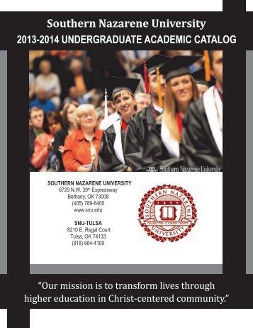 2013-2014 SNU Undergraduate Academic Catalog - Southern ...