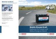 Mobile Einsatz-Kraft: Batterien für Freizeit und Beleuchtung von Bosch
