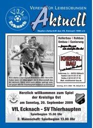 VfLAktuell_05_09/10 - VfL Ecknach