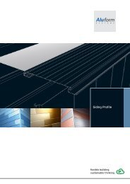 Aluminium Siding Profile - Aluform System GmbH & Co. KG