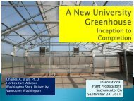 A New University Greenhouse from Inception to Completion