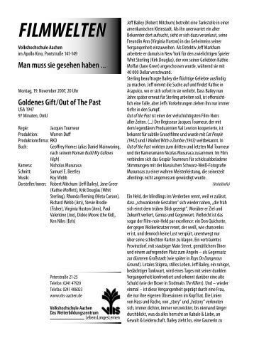 Goldenes Gift / Out of The Past - Filmwelten