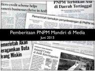Pemberitaan PNPM Mandiri di Media - PNPM Support Facility