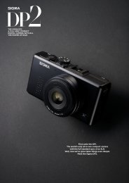 First came the DP1. The world's only all-in-one compact ... - SIGMA DP