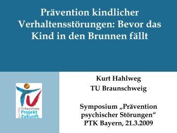 Vortrag von Prof. Kurt Hahlweg - PTK Bayern