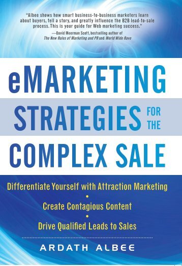 emarketing Strategies Complex Sale for the
