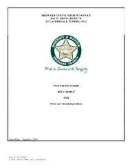 BROWARD COUNTY SHERIFF'S OFFICE 2601 W. BROWARD ...
