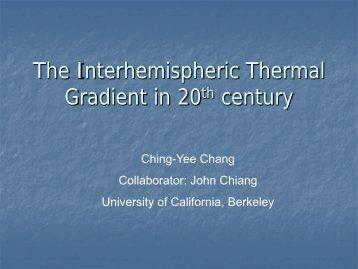 The Interhemispheric Pattern in 20th century